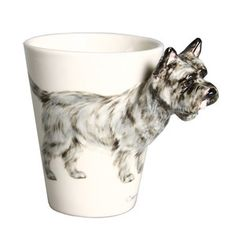 Cairn Terrier Mug Gray Brindle, $28, now featured on Fab.