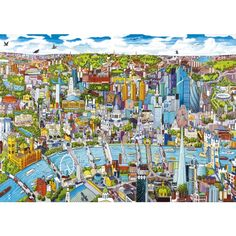 Whether you love the sights of London or the charming Italian architecture, you will find a quality jigsaw puzzles in the Building and Location collection at Wentworth Wooden Puzzles. Ravensburger Puzzle, London Skyline, London City, Mind Puzzles, Jigsaw Puzzles, Saint Paul London, London Spring, Cool Artwork, City Photo