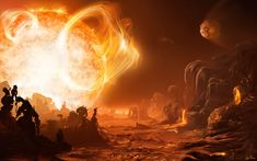 A Dangerous Sunrise on Gliese 876d   Illustration Credit & Copyright: Inga Nielsen (Hamburg Obs., Gate to Nowhere)