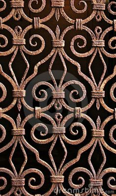 Antique Wrought Iron Pattern, Grill, Venice.