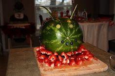 Ladybug Fruit Bowl or fruit sculpture