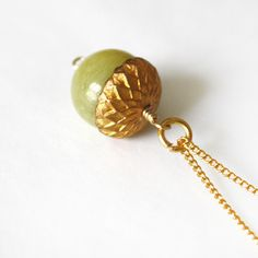 Eikel Necklace - Acorn from Lost & Fawned