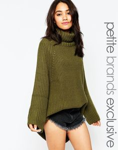 a24f3fdcfb Tiger Mist Petite Chunky Oversized Knitted Jumper at asos.com