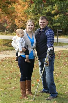 This is what a hero looks like. Meet Travis Mills, his wife, Kelsey, and their 1-year-old daughter, Chloe.http://bit.ly/OaqtqN