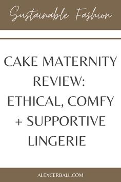 The ethical lingerie brand carries underwear, clothing, swimwear, sleepwear, and accessories for mindful mamas.