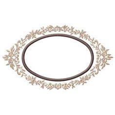 Gunold Embroidery Design: Oval Design 3.19 inches H x 5.47 inches W