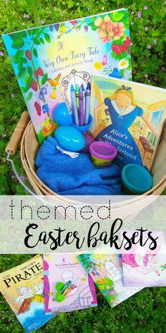 Themed Easter baskets with @iseemebooks! #ad #iseemebooks