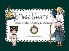The New Year's Eve and New Year's Day for children in first grade! A non fiction story/reader plus math, ELA worksheets and craftivities $
