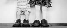 Daddy's Shoes by thestavengers:   'I love to wear my Daddy's shoes.  Although my feet are small.  When they are in my Daddy's shoes I feel ten feet tall!  Some day I'll grow to fill them,  I only hope to be, as fine a man and great a Dad as my Dad is to me!'  #Dads