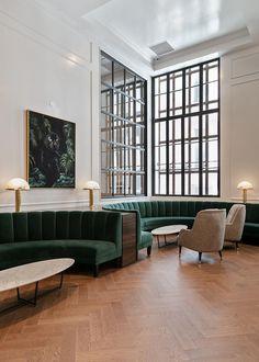 ideas for banquette seating wood interior design Wood Interior Design, Contemporary Interior Design, Home Interior, Home Design, Design Interiors, Luxury Interior, Design Ideas, Scandinavian Interior, Interior Doors
