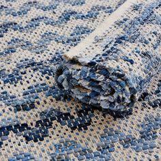 Matta av denim Denis, 70x160 cm, Blå - Heminredning - Hemtextil - Hemtex