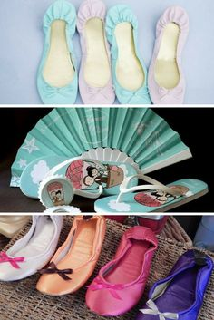 Las pantuflas y flip flops son una opción práctica y económica, pero con un gran valor para tus invitadas, que estarán encantadas de usarlas al instante.