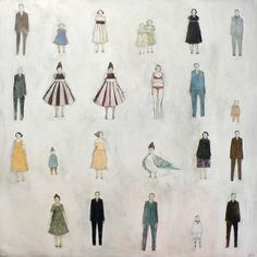 24 people by amanda blake art, via Flickr