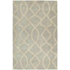 Rugs - Graffix Hand-Tufted Light Grey Rug (5'0 x 7'9) | Overstock.com - light gray geometric rug, gray and ivory geometric rug, gray and ivo...