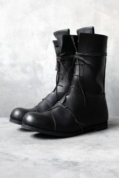 INDIVIDUAL SENTIMENTS | CALF LEATHER HIGH LACE BOOT