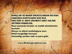 """Allahümme Ekfini Bihalalike An Haramike ve Bifadlike Ammen Sivak"""" Manası Allah"""