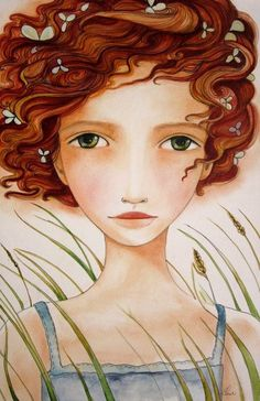 umla:  (via red hair in the wind-claudia tremblay | Illustrated Faces)