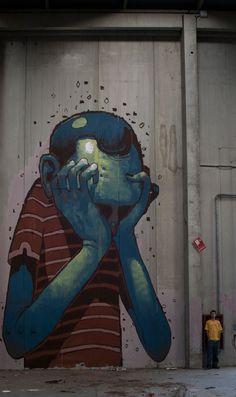 Les illustrations de Aryz, artiste et graffeur barçelonais