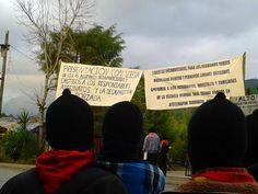 Desde el Caracol de Oventic Chiapas se suman a la exigencia nacional e internacional de justicia para Ayotzinapa 22 de octubre
