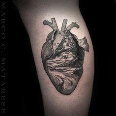Heart, leg, ideas | Tattoo - engraving, etching, linework. | Tattoo artist: Marco C. Matarese, Milan. #marcocmatarese #matarese #incisione #etching #engraving #drawing #penandink #lines #steampunk #blackwork #milano #milan #sculptoroflines #tatuage #ink #tattoo #tattooist #dotwork #nero #tatuatore #linework #blackart #acquaforte #blackline
