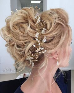 Elstile Long Wedding Hairstyle Ideas / http://www.deerpearlflowers.com/26-perfect-wedding-hairstyles-with-glam/2/