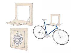 Porte vélo d intérieur sérigraphié avec lettering
