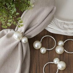 Darby Home Co Pearl Napkin Rings Color: Silver #napkinrings Darby Home Co Pearl Napkin Rings Color: Silver