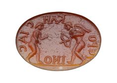 """Intaglio with Eros firing an arrow at a male youth 