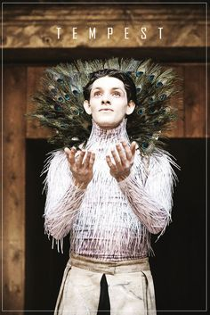 Colin Morgan as Ariel in The Tempest at The Globe Theater 2013.