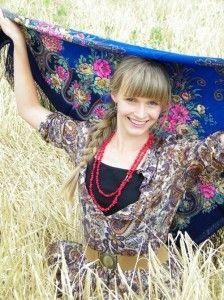как завязать и носить русские платки