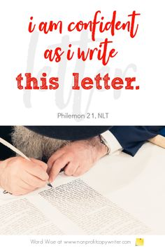The Business Letter: a business writing tip in Paul's letter to Philemon. A for writers with Word Wise at Nonprofit Copywriter