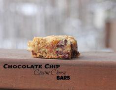 Chocolate Chip Cookie Cream Cheese Bars http://www.kokolikes.com/chocolate-chip-cream-cheese-bars/