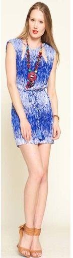 $210 Split Neckline Mini Dress via boutiika.com