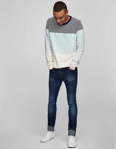 Pull&Bear - hombre - novedades - jeans superskinny fit azul - azul oscuro - 05681504-V2017