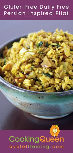 Gluten Free Dairy Free Persian Inspired Pilaf