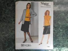 Vogue American Designer Sewing Pattern 1192 - Bill Haire Size 8-10-12 by WeBGlass on Etsy