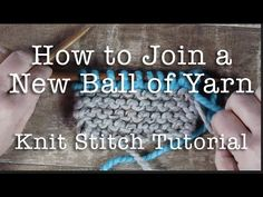 How to Knit: Weaving in Ends in Garter Stitch - YouTube