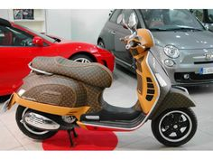 Piaggio Vespa GTS 300 Louis Vuitton Leather Edition source: http://www.autoscout24.it