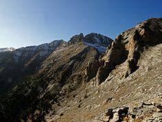 Looking at the highest peaks. Gomarostali trail.