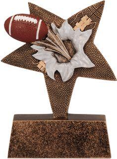 Football Star Burster Resin Trophy
