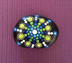 Mandala Painted Stone  by FloridaFunshine on Etsy https://www.etsy.com/listing/233635160/mandala-painted-stone