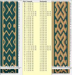 18 tarjetas, 2 / 3 colores, repite cada 20 movimientos // sed_342 diseñado en GTT༺❁