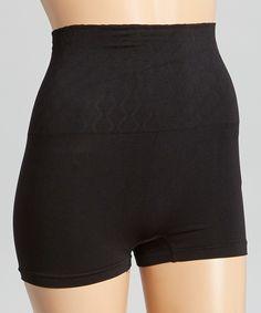 Black Seamless High-Waist Shaper Shorts - Plus Too