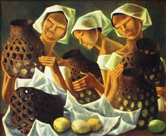 View Women with Baskets and Mangoes By Anita Magsaysay-Ho; Oil on canvas; Access more artwork lots and estimated & realized auction prices on MutualArt. Arte Filipino, Filipino Culture, Philippine Art, Asian Art, Painting & Drawing, Oil On Canvas, Book Art, Contemporary Art, African