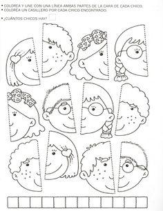 najdi druhou polovinu obličeje