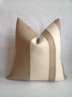 Burlap Fabric, Burlap Pillows, Fabric Sofa, Handmade Pillow Covers, Handmade Pillows, Decorative Pillows, Shabby Chic Armchair, Aqua Throw Pillows, Pillos