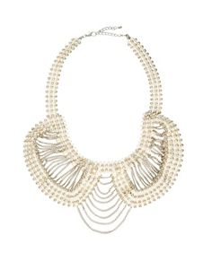 ASOS Pearl & Chain Collar Necklace