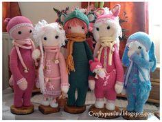 lalylala family made by Paula D. / crochet patterns by lalylala