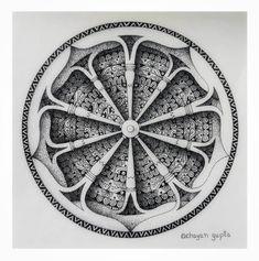 Easy Mandala Drawing, Mandala Sketch, Flower Art Drawing, 3d Art Drawing, Mandala Doodle, Mandala Art Lesson, Mandala Stencils, Mandala Artwork, Mandala Painting
