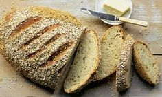 Dan Lepard's picnic loaves: Chive, oat and yoghurt bloomer & Wheat, spelt and rye cider loaf ❤❤
